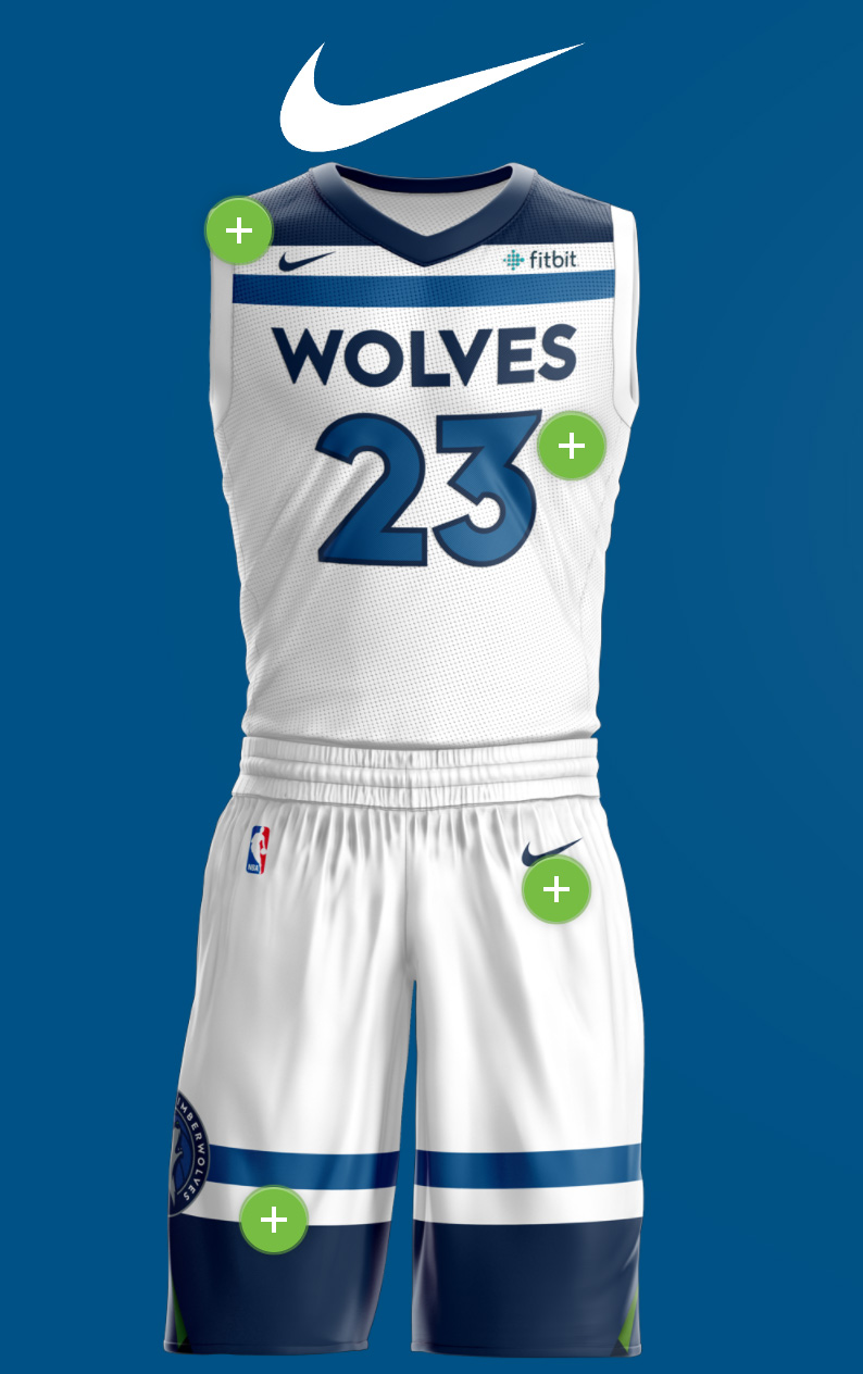 MN Timberwolves New Threads Project: Mobile View, Nike Technology Interactive Section