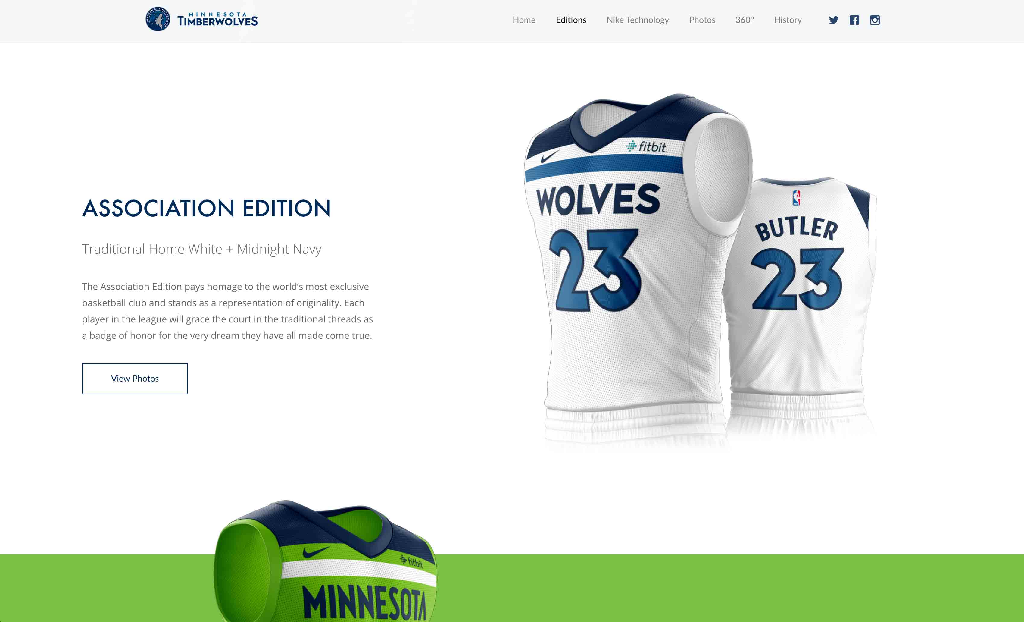 MN Timberwolves New Threads Project: Desktop View, Association Edition Section