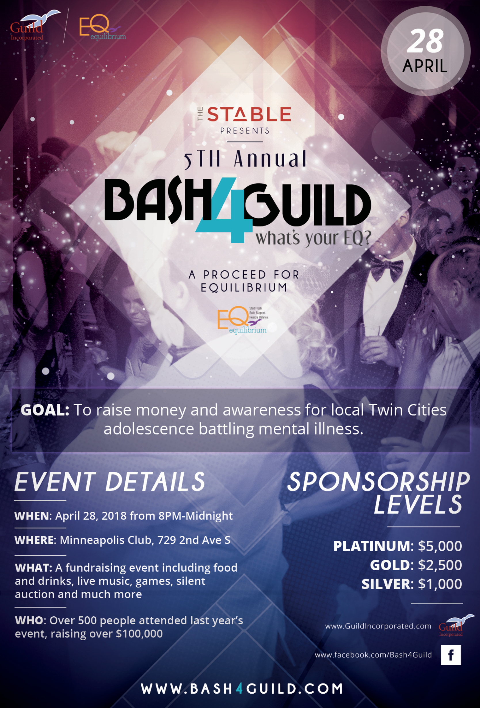 Bash4Guild Event Informational Flyer (front)