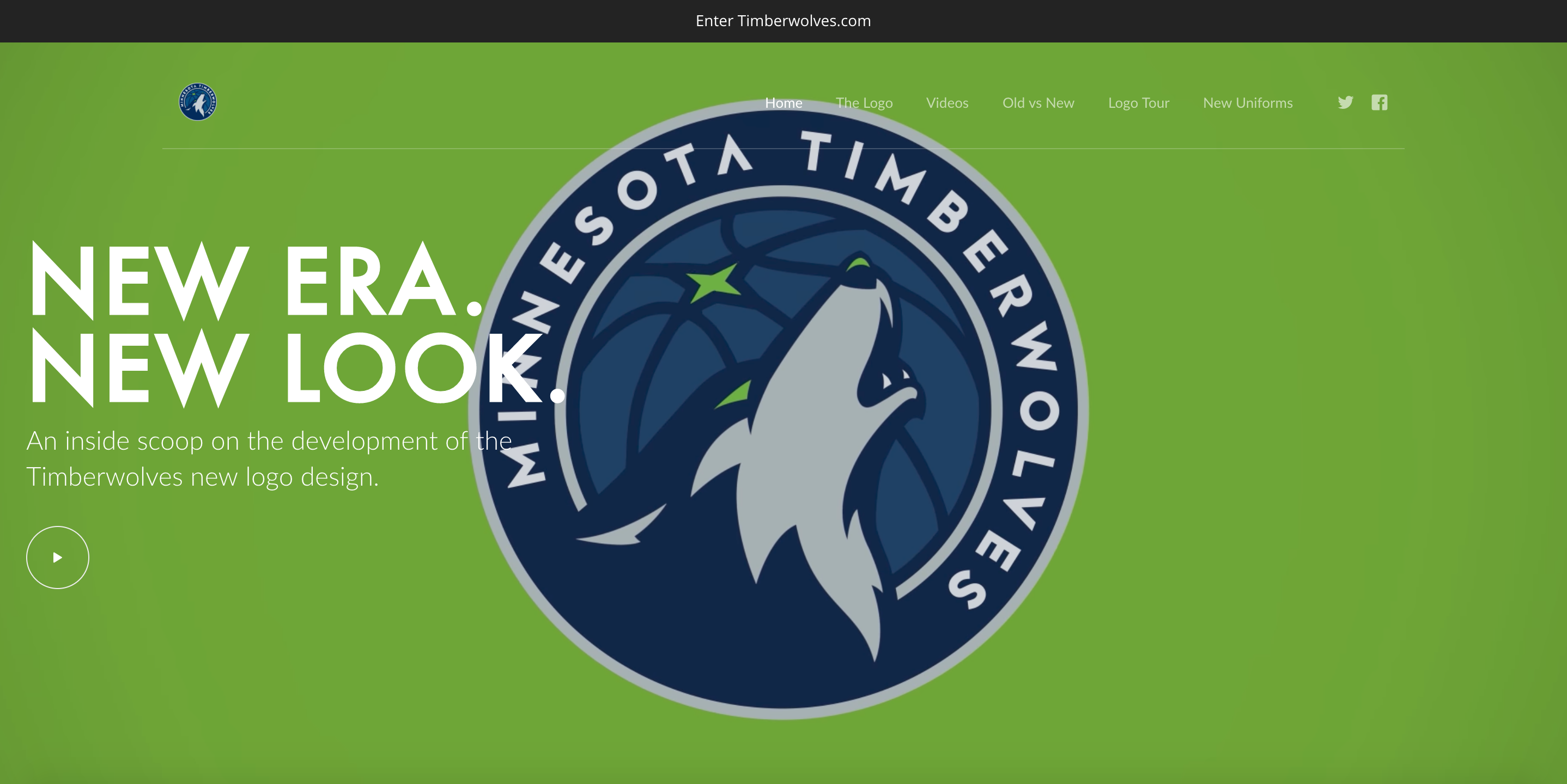 Timberwolves New Logo Unveil, Hero Spot, Desktop