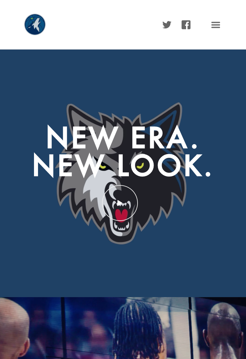 Timberwolves New Logo Unveil, Hero Spot, Mobile