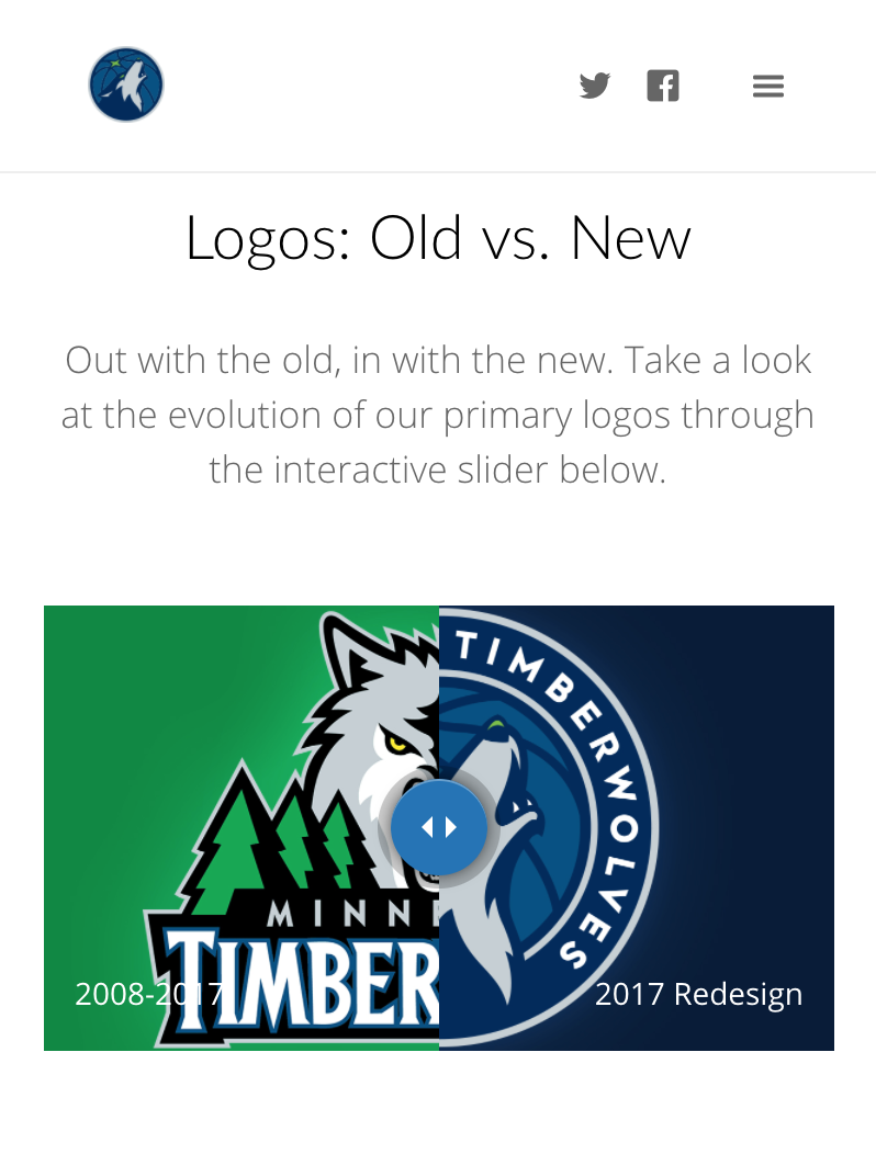 Timberwolves New Logo Unveil, Logo Comparison, Mobile
