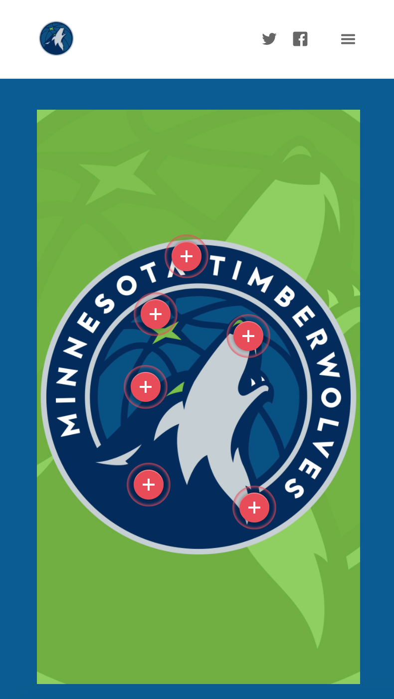 Timberwolves New Logo Unveil, Logo Points of Interest, Mobile