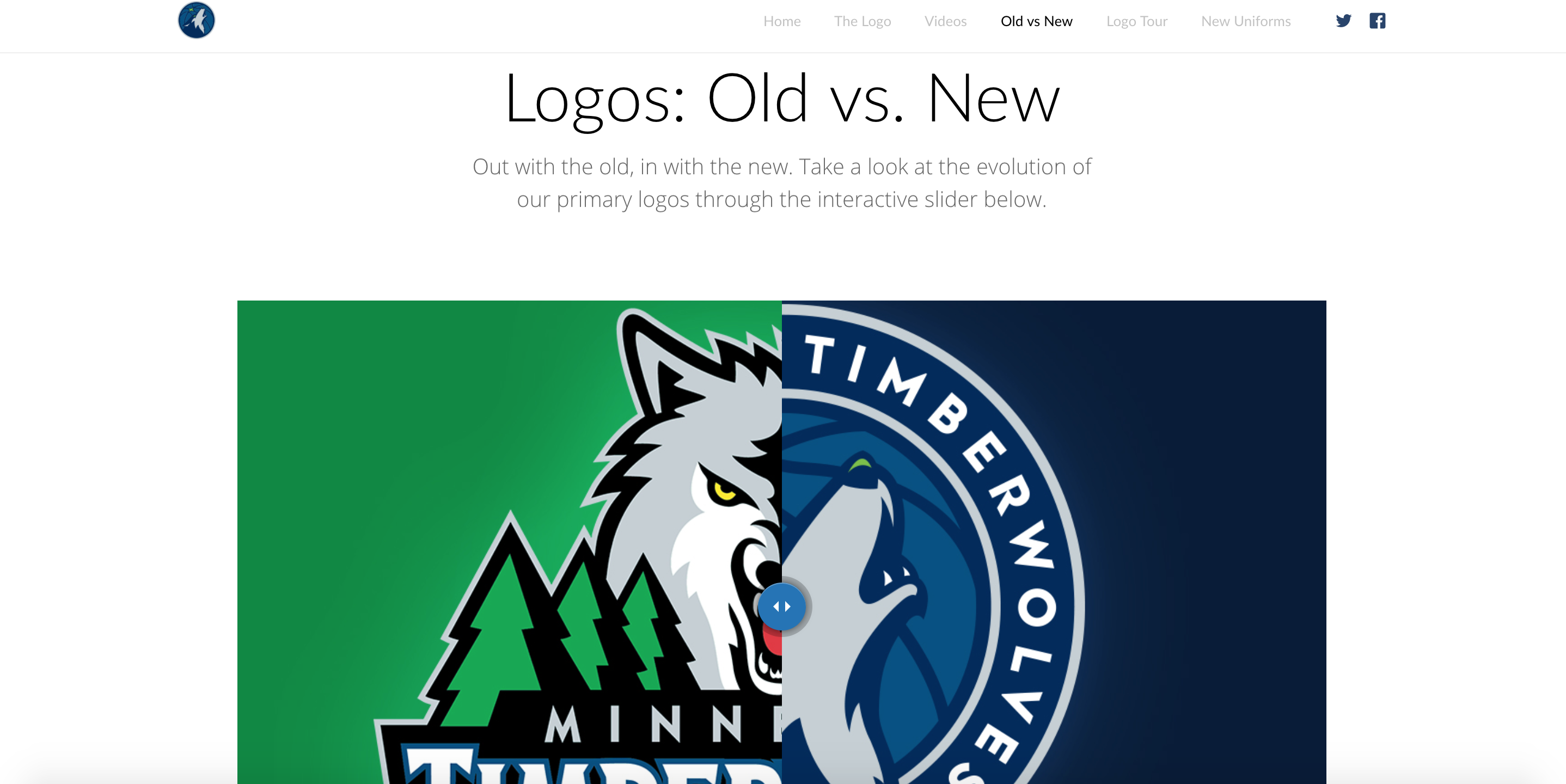 Timberwolves New Logo Unveil, Logo Comparison, Desktop