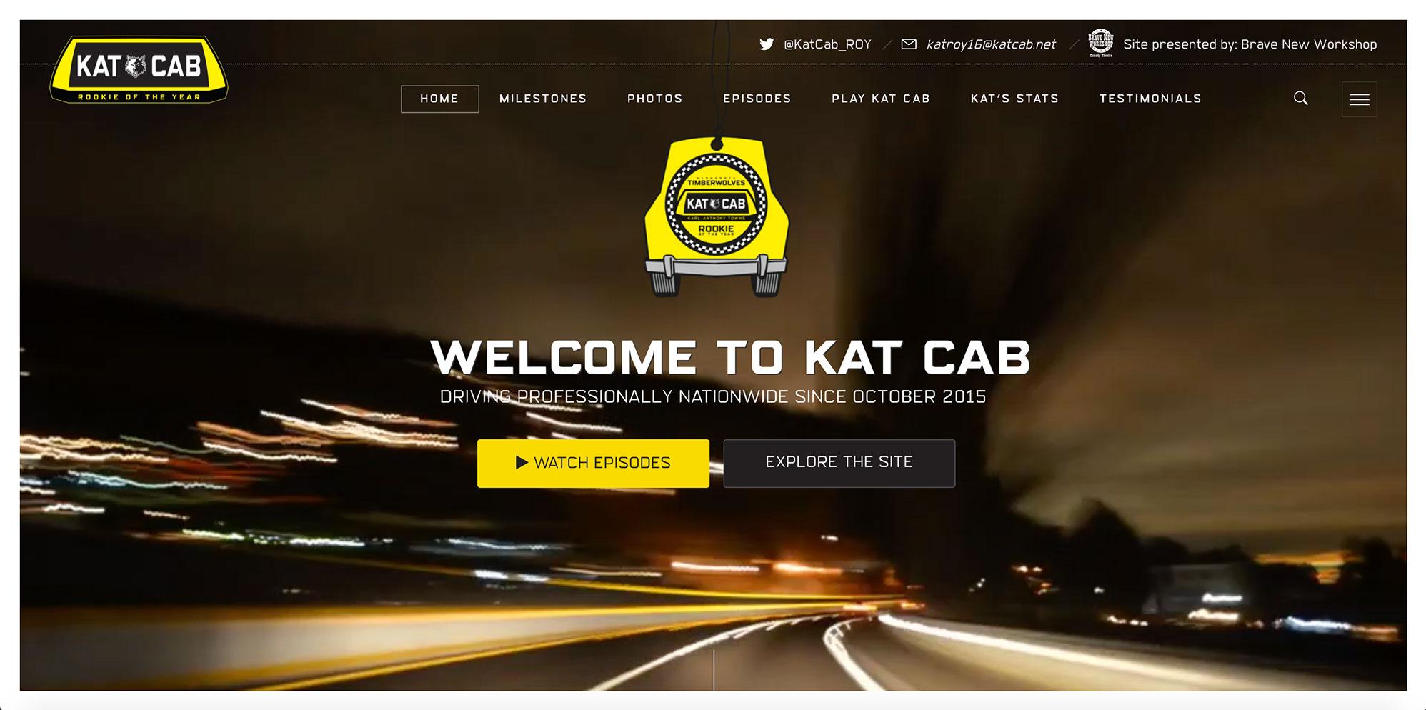 Kat Cab Hero Spot, Desktop View