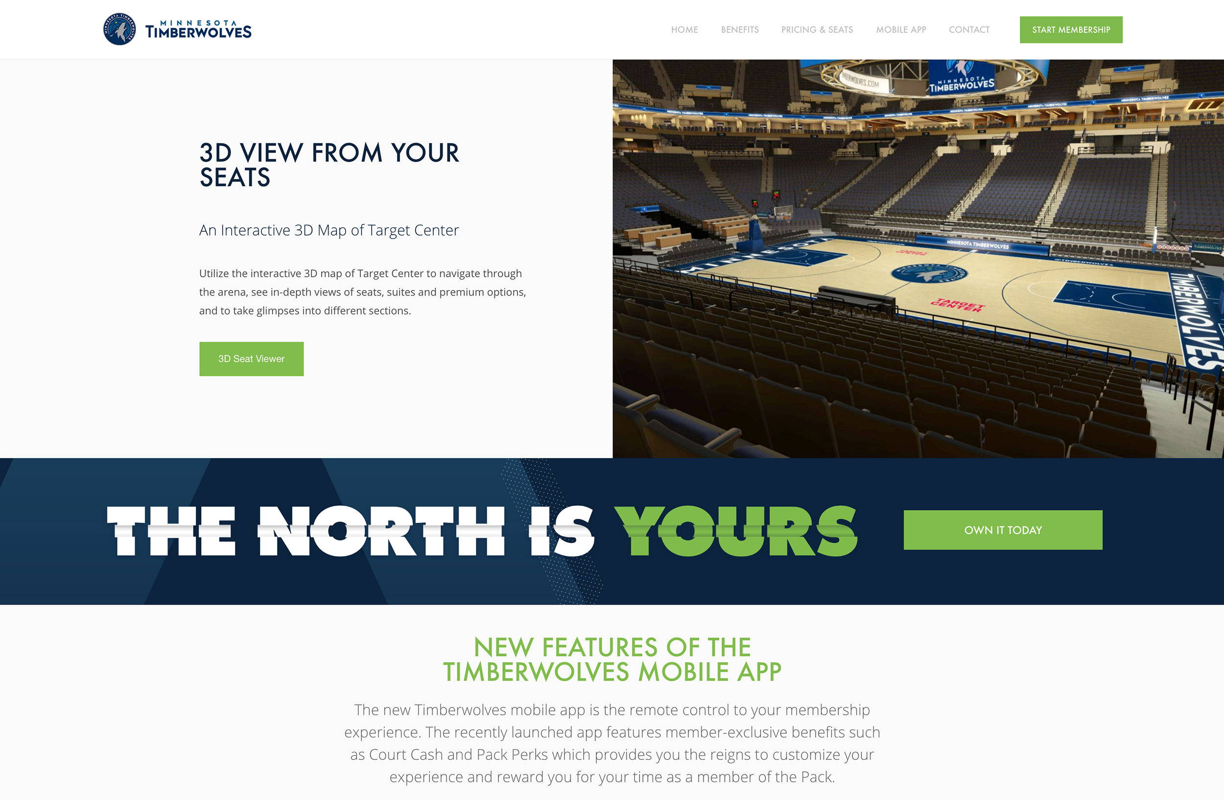 Timberwolves New Sales Microsite Desktop