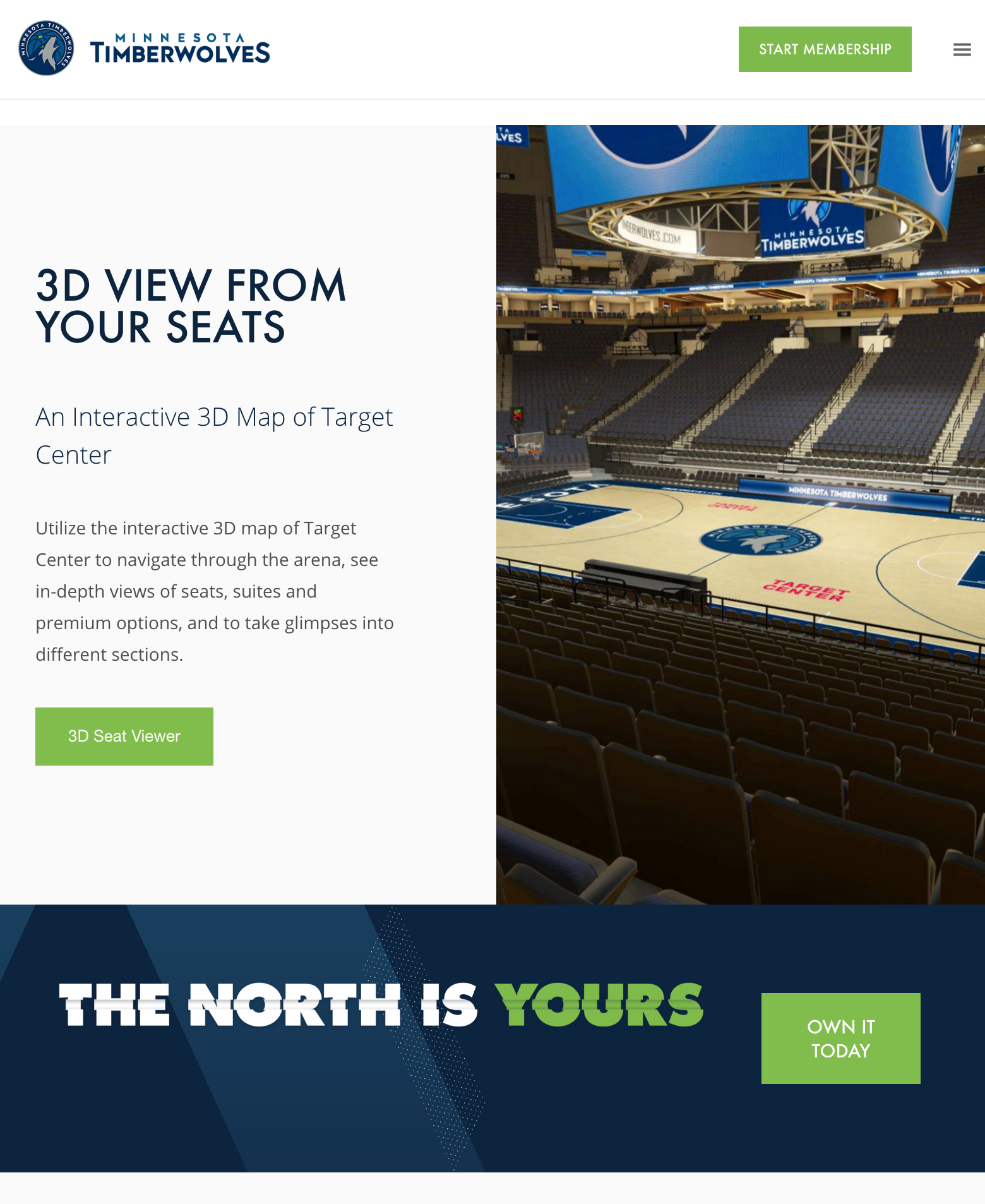 Timberwolves New Sales Microsite Tablet